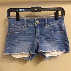 American Eagle Light-Wash Jean Shorts